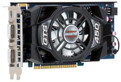 GeForce GTS 450 783Mhz PCI-E 2.0 512Mb 3608Mhz 128 bit 2xDVI Mini-HDMI HDCP N450-2SDN-C5CW