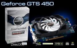 GeForce GTS 450 783Mhz PCI-E 2.0 1024Mb 3608Mhz 128 bit DVI HDMI HDCP N450-2SDN-D5CX