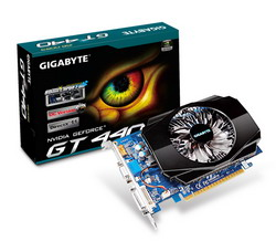 GeForce GT 440 830Mhz PCI-E 2.0 1024Mb 1800Mhz 128 bit DVI HDMI HDCP GV-N440D3-1GI