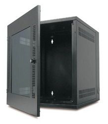 NetShelter Wall Mount Enclosure 13Ux584X622mm-Black with Glass door AR100