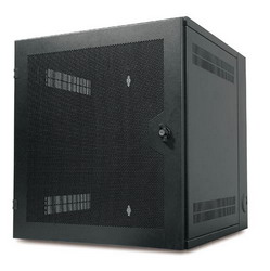 NetShelter Wall Mount Enclosure 13Ux584X622mm-Black with Vented door AR100HD