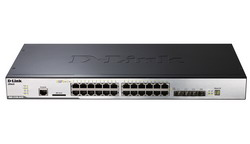 DGS-3120-24TC, Managed L2+ Gigabit Switch, 20x10/100/1000BASE-T, 4xCombo 1000BASE-T/SFP, 2x10G CX4 for stacking, physical stacking DGS-3120-24TC/EEI