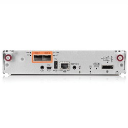 HP StorageWorks P2000 G3 10GbE iSCSI MSA Controller (2Gb cache, 2 ports (no SFP+), SFF8088 port for disk enclosures) 10GbE SFP+ cables required AW595A