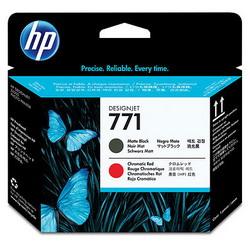 Печатающая головка HP 771 Designjet (матовый черный/хроматический красный) CE017A