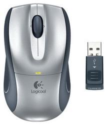 Мышь Logitech V320 Cordless Optical for Notebooks Black-Silver