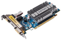 GeForce 210 520Mhz PCI-E 2.0 512Mb 1200Mhz 64 bit DVI HDMI HDCP ZT-20309-10L