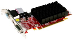 Radeon HD 6450 625Mhz PCI-E 2.1 1024Mb 1334Mhz 64 bit DVI HDMI HDCP AX6450 1GBK3-SH