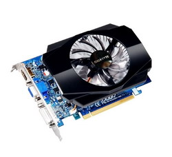 GeForce GT 220 506Mhz PCI-E 2.0 1024Mb 800Mhz 128 bit DVI HDMI HDCP GV-N220D2-1GE