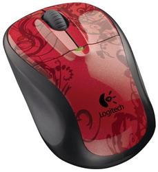 Мышь Logitech M305 Red Tendrils USB
