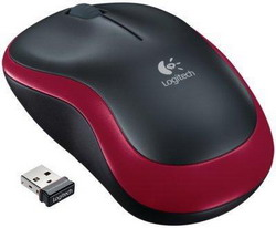 Wireless Mouse M185 Red USB 910-002240