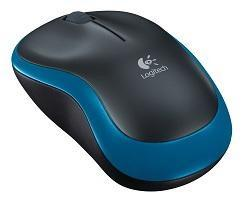 Мышь Logitech Wireless Mouse M185 Blue-Black USB
