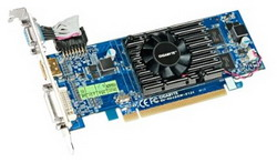 Radeon HD 5450 650Mhz PCI-E 2.1 128Mb 1800Mhz 64 bit DVI HDMI HDCP GV-R545HM-512I