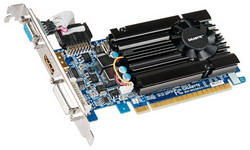GeForce GT 520 810Mhz PCI-E 2.0 1024Mb 1333Mhz 64 bit DVI HDMI HDCP GV-N520D3-1GI