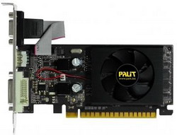 GeForce 210 589Mhz PCI-E 2.0 512Mb 1250Mhz 32 bit DVI HDMI HDCP Black NEAG2100HD53-1193F