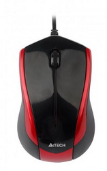Мышь A4 Tech N-400 Black/Red USB