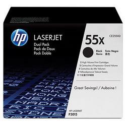 Лазерный картридж HP CE255XD черный двойная упаковка расширенной емкости