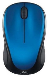 Мышь Logitech Wireless Mouse M235 Blue-Black USB 910-003037