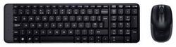 Комплект клавиатура + мышь Logitech Wireless Combo MK220 Black USB