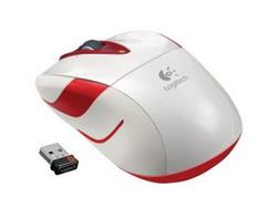 Мышь Logitech Wireless Mouse M525 White-Red USB 910-002685