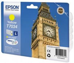 Струйный картридж Epson C13T70344010 желтый C13T70344010