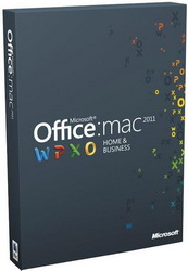 Microsoft Off Mac Home Business 1PK 2011 Russian Russia Only EM DVD No Skype