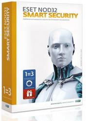 Eset NOD32 Smart Security+ Bonus + расширенный функционал -универсальная лицензия на 1 год на 3ПК или продление на 20 месяцев NOD32-ESS-1220