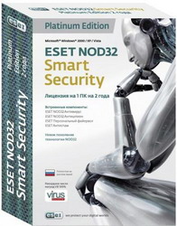 Eset NOD32 Smart Security Platinum Edition - лицензия на 2 года на 1ПК NOD32-ESS-NS(BOX)-2-1