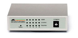 5x10/100TX with ext P/S - NO MDI/MDIx on all ports, Layer 2 Switch Unmanaged AT-FS705LE-yy