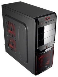 Корпус AeroCool V3X Advance Devil Red Edition Black EN57400