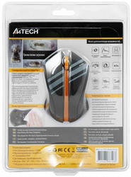 Мышь A4 Tech G7-310D-3 Nano Black+Orange USB
