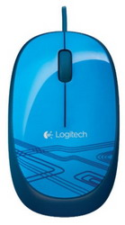 Мышь Logitech Mouse M105 Blue USB 910-003119