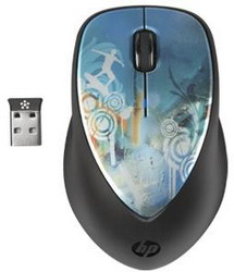 Мышь HP H2F43AA X4000 Cowa Bunga Mouse Black-Blue USB