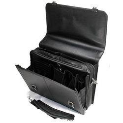 """Сумка для ноутбука PORTcase HB-1017 17 """" черная кожа."""
