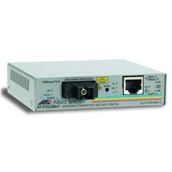 Single-fiber 10/100M bridging converter with 1550Tx/1310Rx, 15km reach, operating temperature of 65C AT-FS238B/1-YY