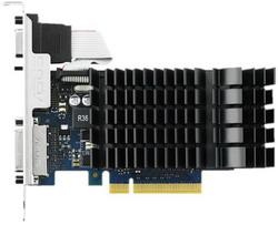 Видеокарта Asus GeForce GT 730 902Mhz PCI-E 2.0 1024Mb 1800Mhz 64 bit DVI HDMI HDCP GT730-SL-1GD3-BRK