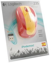 Мышь Logitech Wireless Mouse M235 Red-Yellow USB 910-004028