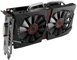 Видеокарта Asus GeForce GTX 750 Ti 1124Mhz PCI-E 3.0 2048Mb 5400Mhz 128 bit DVI HDMI HDCP STRIX-GTX750TI-OC-2GD5