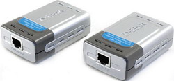 DWL-P200, PoE Adapters(pair), Selectable output 5V DC, 2.5A or 12V DC, 1A, transmit power up to 100m DWL-P200