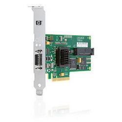 HP SC44Ge SAS/SATA Host Bus Adapter (8 link: 1 int (SFF8484) x4 wide connector/1 ext (SFF8470) x4 wide SAS connector; RAID 0, 1) PCI-E
