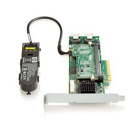 Smart Array P410/512 MB with BBWC Controller RAID 0,1,1+0,5,5+0 (8 link: 2 int (SFF8087) ports SAS) PCI-E x8, incl. h/h & f/h. brckts 462864-B21
