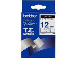 Пленка в кассете Синий шрифт на белой основе, ширина 12мм. Для PT-1280/1280VP TZ233