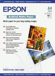 Матовая архивная бумага, A4, 50 листов, 192 г/м2 EPPS041342