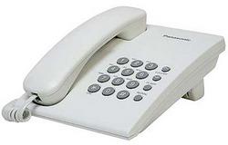 Телефон Panasonic KX-TS2350RUW (белый) {повтор номера, регул-ка громкости, кр.на стену}