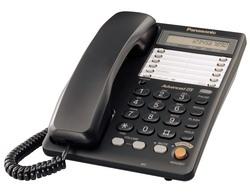 Телефон Panasonic KX-TS2365RUB (черный) {16-зн ЖКД, однокноп.набор 20 ном., автодозвон, спикерфон }