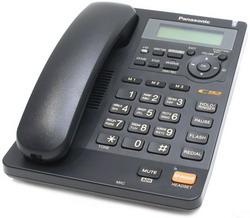 Телефон Panasonic KX-TS2570RUB (черный) {ЖКД, АОН,однокноп.набор 3 ном., автодозвон, спикерфон, порт для доп. оборуд.}