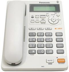 Телефон Panasonic KX-TS2570RUW (белый) {ЖКД, АОН,однокноп.набор 3 ном., автодозвон, спикерфон, порт для доп. оборуд.}