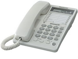 Телефон Panasonic KX-TS2362RUW (белый) {16зн ЖКД, однокноп.набор 20 ном.}