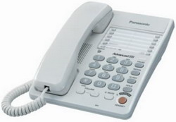 Телефон Panasonic KX-TS2363RUW (белый) {однокноп.набор 20 ном., спикерфон, автодозвон}