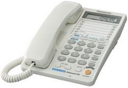 Телефон Panasonic KX-TS2368RUW{2 линии, конференц-связь, спикер., 30 номеров памяти, ЖКД, Flash, часы }
