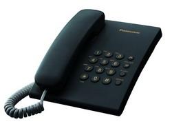 Телефон Panasonic KX-TS2350RUB (чёрный) {повтор номера, регул-ка громкости, кр.на стену}